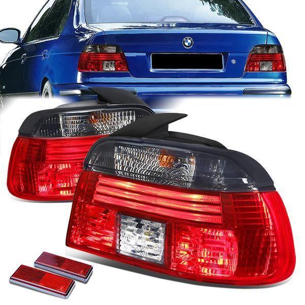 97 00 Bmw 528i 540i M5 Tail Lights Chrome Housing Red Smoked