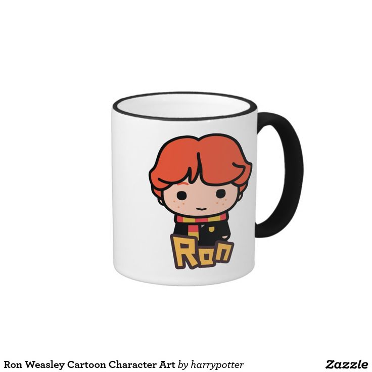 Ron Weasley Cartoon Character Art. Regalos, Gifts. #taza #mug