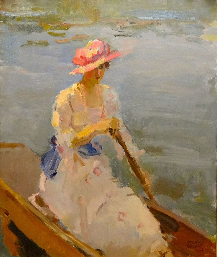 The Athenaeum - Young Woman Rowing on the Thames Date unknown (Isaac Israels - )