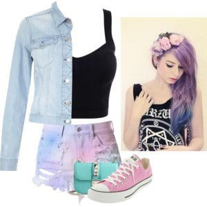 pastel goth, american, modern, middle class, alot of teen films have gurl like this in them.