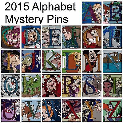 2015 Disney Parks Alphabet Mystery FULL SET of CHASERS ALL LETTERS Trading Pins