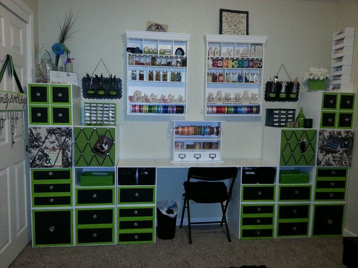 Craft room moved into my smaller guest room so i changed for Craft room design layout