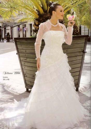 robe de marie taille 36 ivoire de chez tati mariage mantes la ville - Tati Mariage Magasin