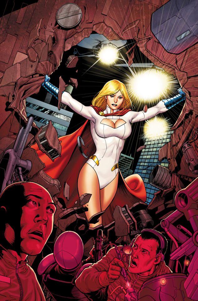 Saving the day- Powergirl