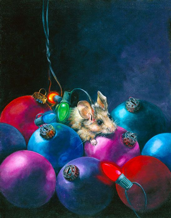 Not a Creature was Stirring by Lori Preusch Acrylic on Canvas $3.00 Per Card