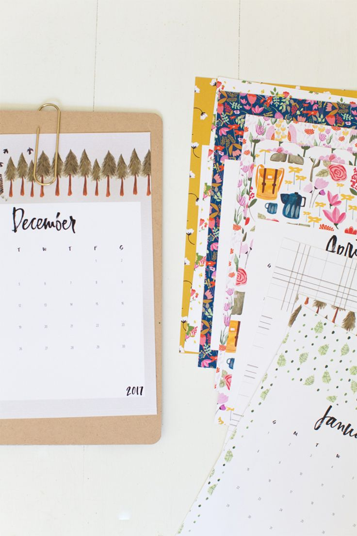 2017 Printable Calendar + Tea Towel / Free download! — Jessica Keala                                                                                                                                                                                 More