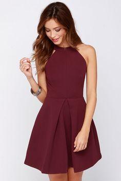 Keepsake Adore You Burgundy Dress at Lulus.com!