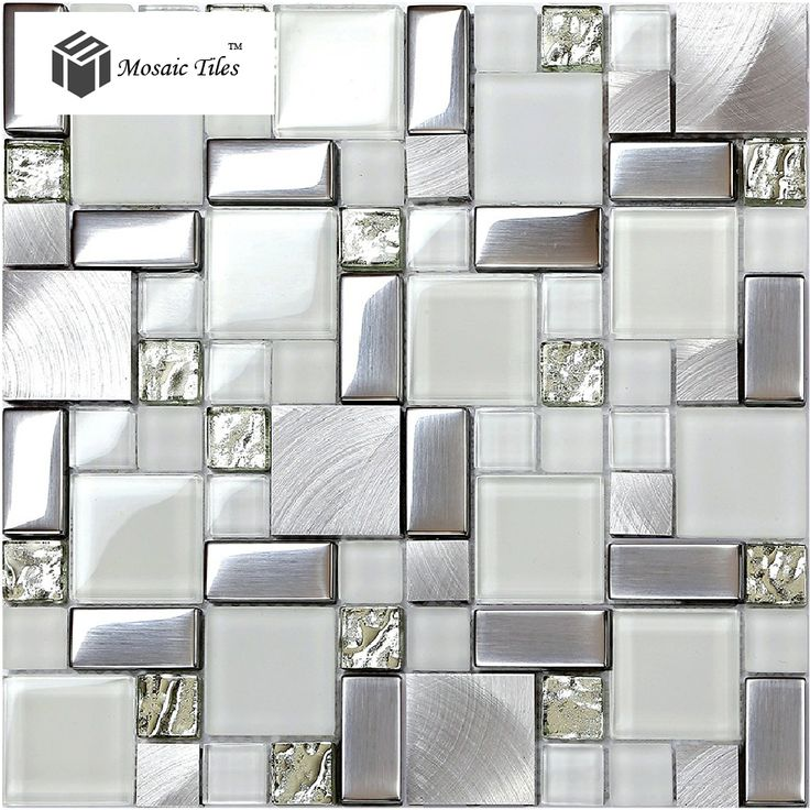 glitter fireplace   Glass Glitter Mosaic Tile Metallic Kitchen Backsplash Design Fireplace ...