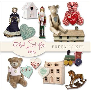 Scrap. DOT: Freebies Old Style Toys Kit