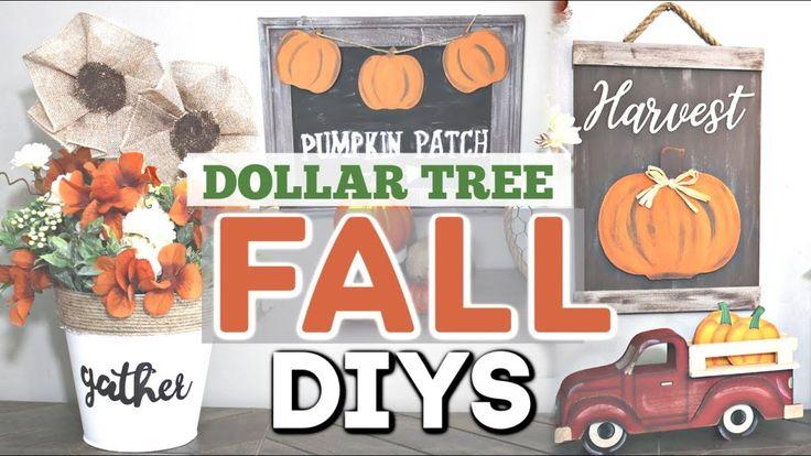 DIY Dollar Tree FALL Decor 2019 | Herbst Wohnkultu…