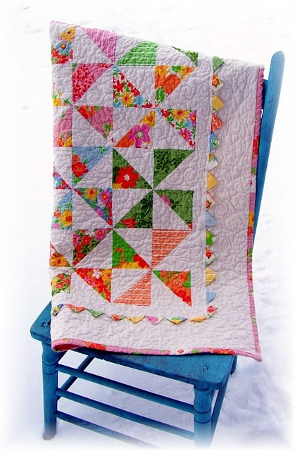 I have had one of these quilts in progress using 'Blush' for....ever. Looks so pretty in 'Dream On'!