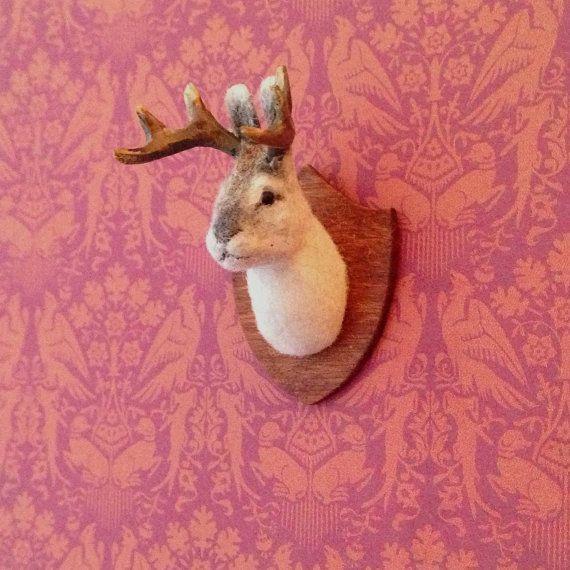 Dollhouse Miniature  Jackalope Mount via Etsy