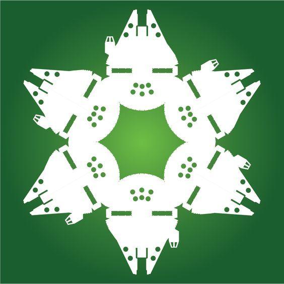 Mejores 43 imágenes de copos de nieve star wars en Pinterest | Copo ...