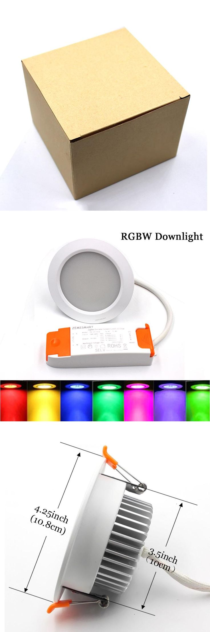 ZigBee Smart RGBW Downlight Wireless Control ZigBee Intelligent Lighting 7W 100V to 240V echo