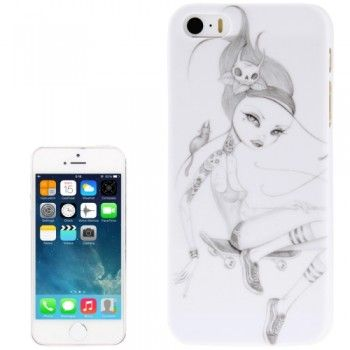 Sketch Girl Pattern Case for iPhone 5 & 5S
