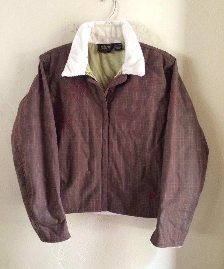 $200 Women's Mountain Hardwear brown zip-up Jacket size M | eBay - $49.99 + shipping