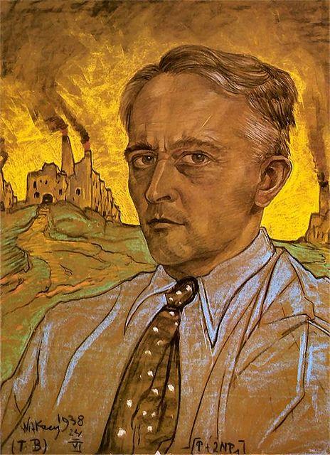 Stanislaw Ignacy Witkiewicz (1885-1939) - 1938 Self-Portrait (Silesian Museum, Katowice, Poland)