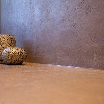 Natürlicher Mineralputz Im Bad Und Dusche