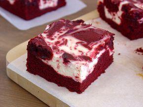 Red Velvet Cheesecake Brownie. Receta en español. ¡Vaya pinta!