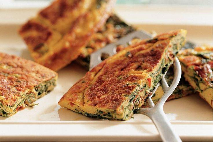 Kijk wat een lekker recept ik heb gevonden op Allerhande! Spinazie-omelet