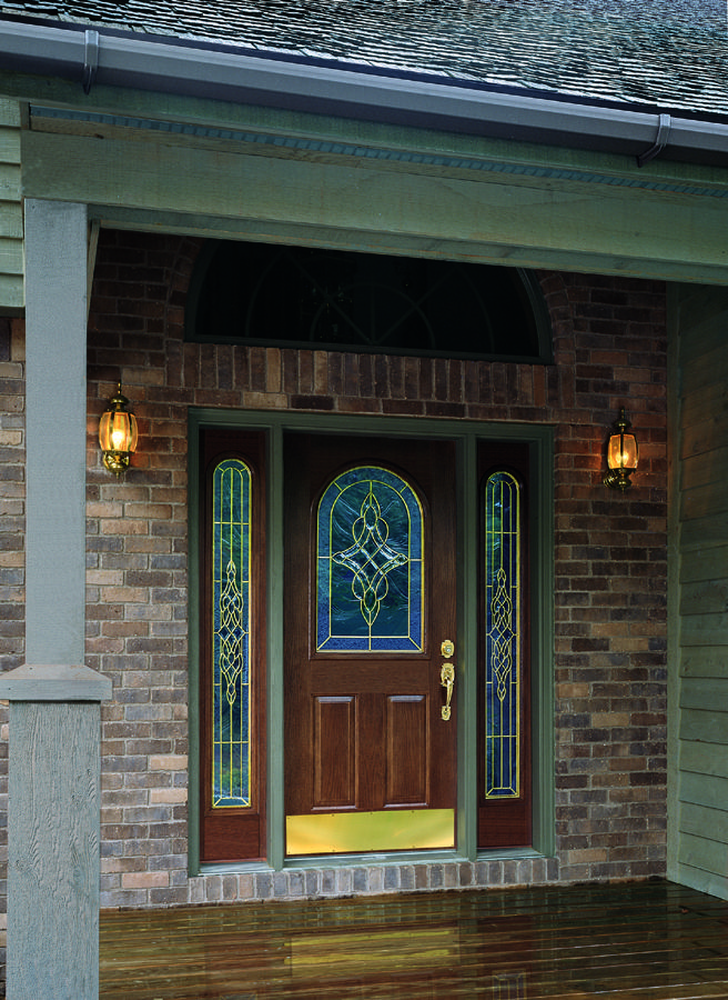 Image Detail For  Steel Front Entry Door Painted With Decorative Glass