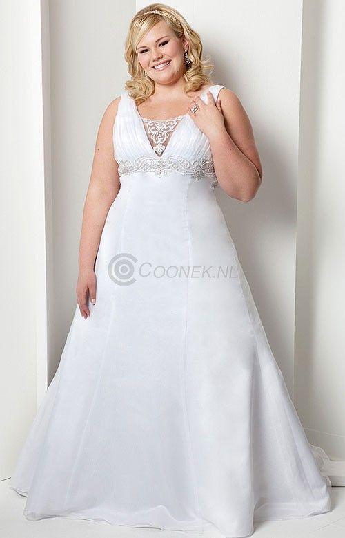 Bruidsjurk voor gezette personen