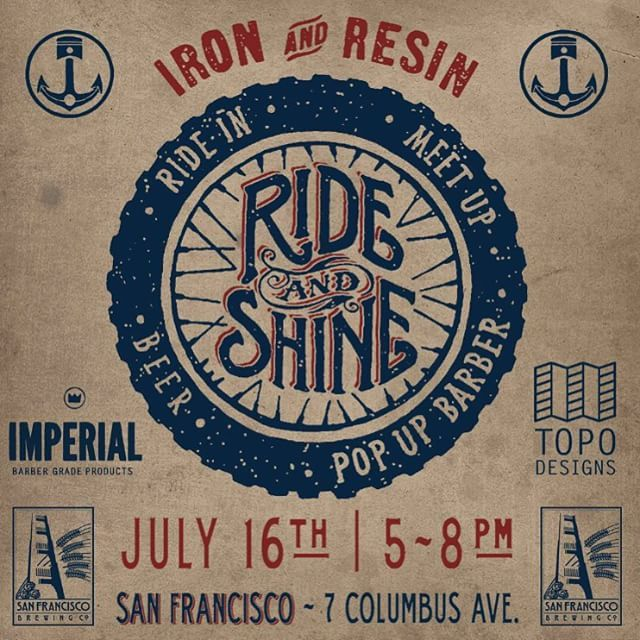 Tonight! Head on down to our San Francisco store on 7 Columbus Ave. Get a shave and haircut from the @imperialbarberproducts pop up barber shop have a cold one from @sfbrewingco and check out the complete lineup from our good buddies all the way from Colorado @topodesigns. by ironandresin