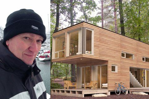 SE, SÅ FINT: Mark Bowler synes skipscontainerhus er et spennende prosjekt og har…