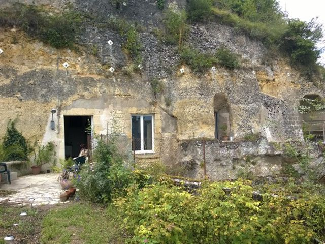 Renovated Cave in France - Before and After Photos. Beautiful, cost 35,000 Euros, yet looks very luxurious after. And property cost $1.34.