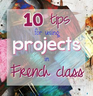 Great ideas to help you incorporate projects into your French class with no stress! Project-based learning is a great way to assess speaking and writing skills. Click here to read more!