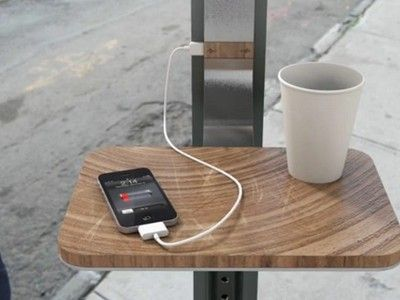 Solar Powered Gadget Charging Stations Could Make Street Corners into Coffee Shops