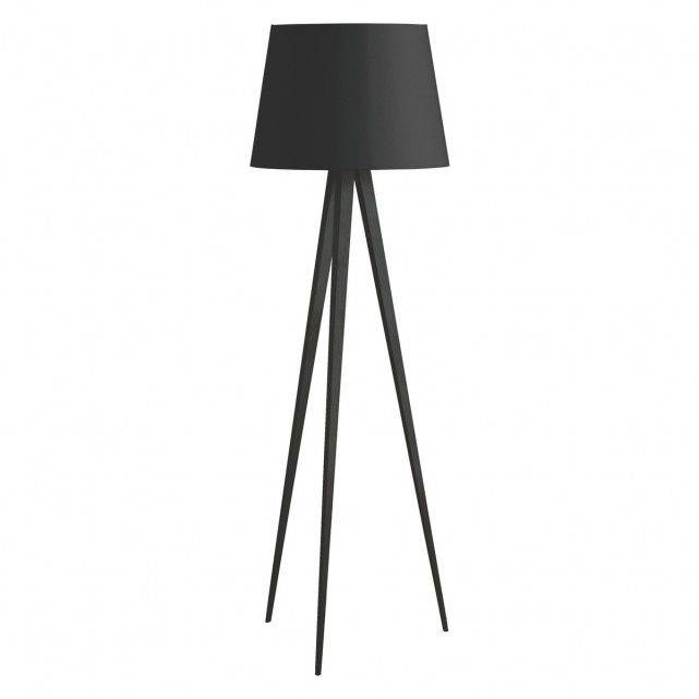 The yves black tripod floor lamp base and grande shade are a perfect pairing buy now at habitat uk