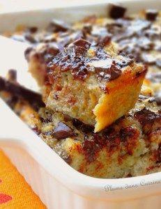Pudding banane et chocolat - Pour un petit-déjeuner très gourmand!