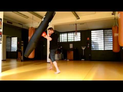 Sequenza di colpi al Sacco da Boxe - Jab, Cross,Hook, Uppercut - YouTube