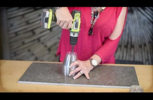 She Drills A Hole Through Some Plastic Cups. Within Minutes, She Turns It Into Something Dazzling
