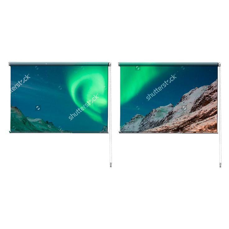 Duo rolgordijn Noorderlicht   De duo rolgordijnen van YouPri zijn iets heel bijzonders! Maak keuze uit een verduisterend of een lichtdoorlatend rolgordijn. Inclusief ophangmechanisme voor wand of plafond! #rolgordijn #gordijn #lichtdoorlatend #verduisterend #goedkoop #voordelig #polyester #duo #twee #noorderlicht #noorwegen #natuurverschijnsel #groen #blauw #natuur