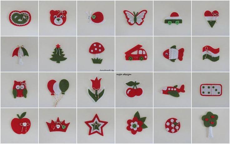 Kindergarten signals in Hungarian national colors (noja design)