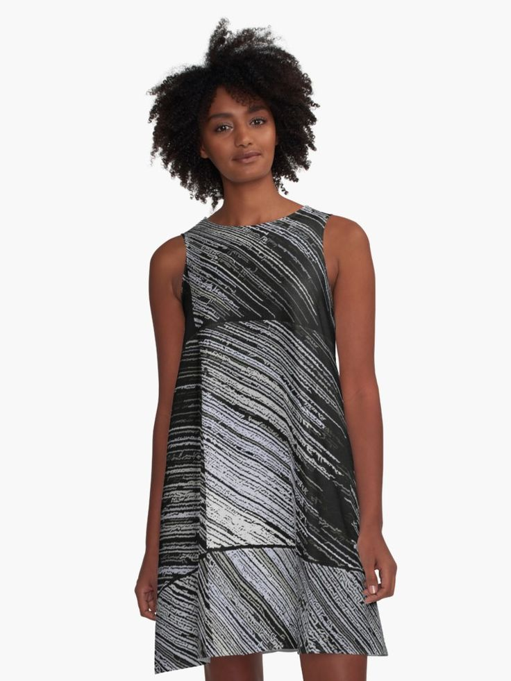 #Line #Art The #Scratch • A-line dress - Also Available as T-Shirts & Hoodies, Men's Apparels, #Women's #Apparels, Stickers, iPhone Cases, Samsung Galaxy Cases, Posters, Home Decors, Tote Bags, Pouches, Prints, Cards, Mini #Skirts, Scarves, iPad Cases, Laptop Skins, Drawstring Bags, Laptop Sleeves, and Stationeries #dress #stylish #design #fashion #designer #clothing #style #redbubble #aline #orange #yellow #black #striped #stripes #gray