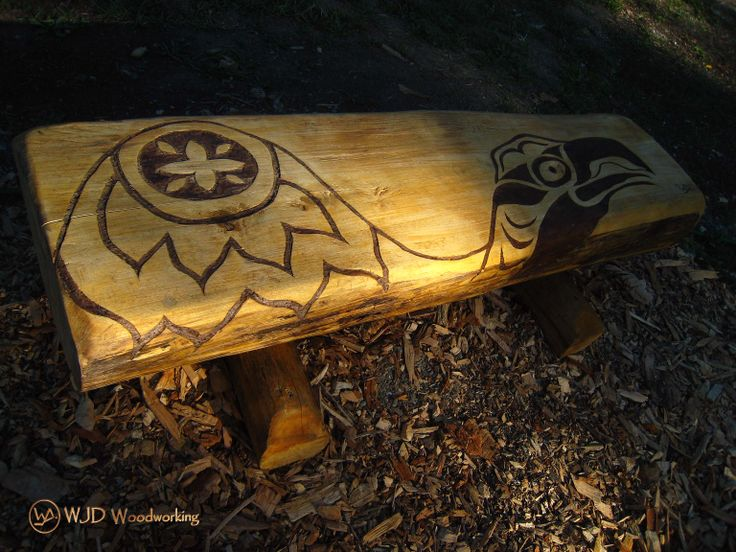 The Eagle Bench  1 of 4 benches created for the Medicine Wheel Garden at Heart Lake Conservation Area Toronto and Region Conservation Authority