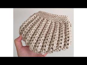 Penye İpten çanta yapımı -1 - YouTube