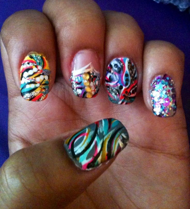 Crazy Nail Art: 1000+ Images About My Crazy Nail Art Designs (original) On