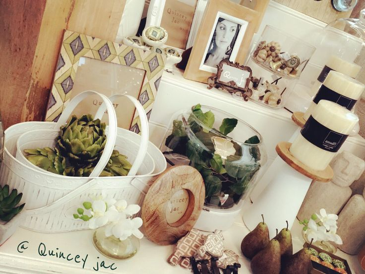 #wood #natural #white #classic #green #plants #pears #candles #doorknobs #hooks #gifts #homedecor #quinceyjac