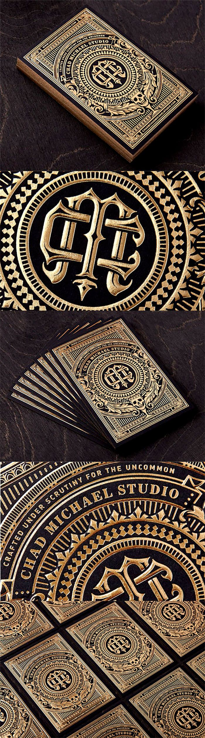 24 best business card design images on pinterest business incredibly intricate black and gold hot foil stamped business card for a designerdesign by chad michaelfrom card observer reheart Images
