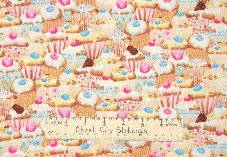 Timeless Treasures Cupcake Baking Cup Cake Kitchen Bake Girl Cotton Fabric Yard | eBay