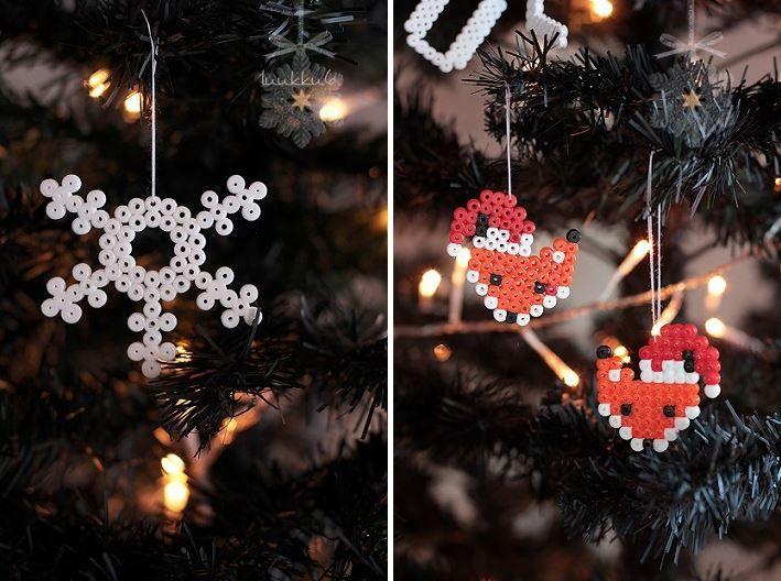 Christmas decor with Hama beads