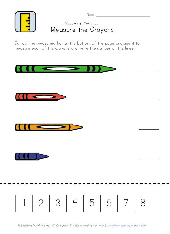 Crayon Measurement Printable