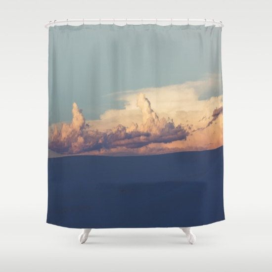 southwestern decor shower curtain white sands by RobinWrenDecor