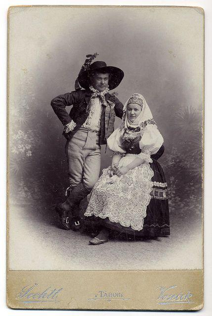Šechtl & Voseček, Tábor - Bridegroom And Bride From The South Bohemian Subregion Blatsko by josefnovak33, via Flickr