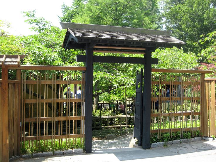 Japanese Style Gate With Roof