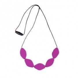 MummaBubba Jewellery-Teething Necklace Large Tulip Beads- Purple
